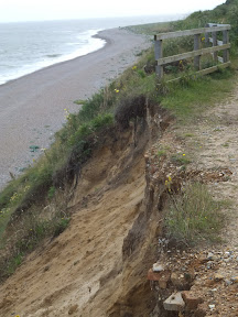 Cliff top erosion at Sizewell