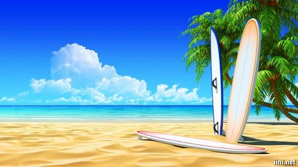ảnh biển đẹp và bầu trời trong xanh