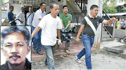 Mayat Ghadzali Ahmad, 52, ditemui terbaring tanpa baju dan hanya berkain pelekat