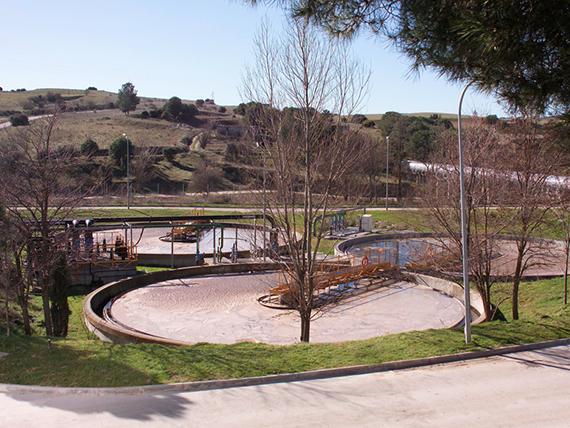 Obras en la estación depuradora de aguas residuales de Aranjuez
