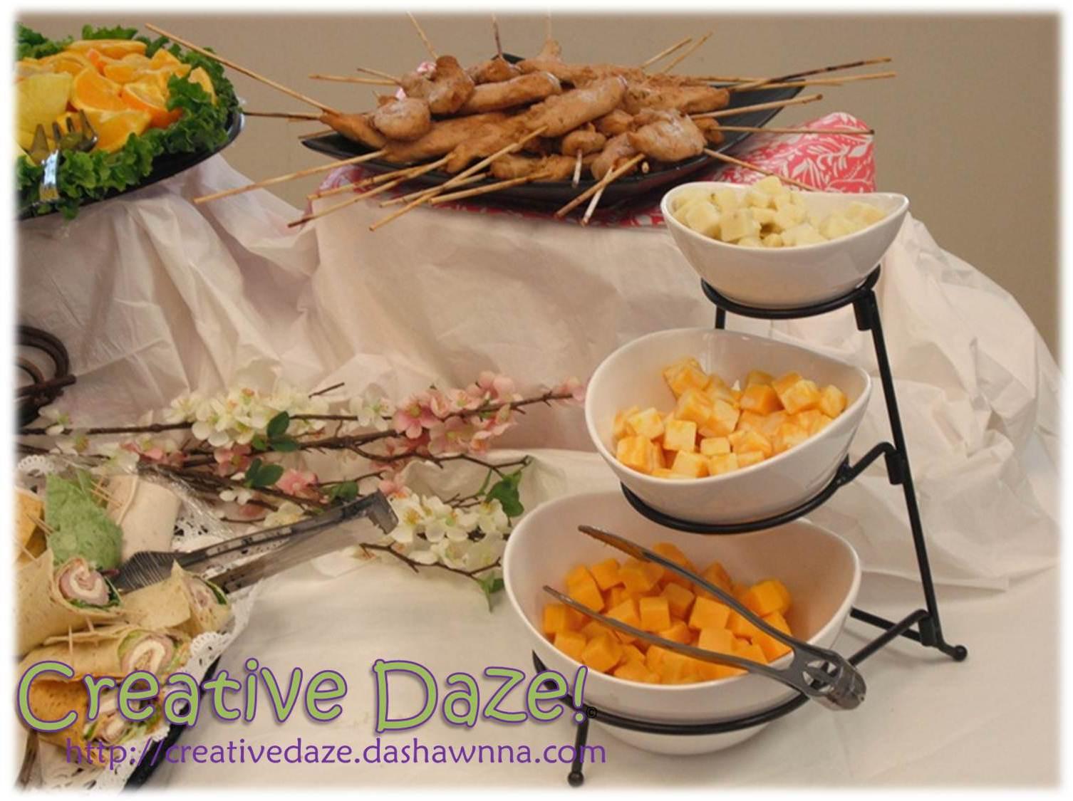 Creative Daze!: DIY Bridal Shower ::The Food::