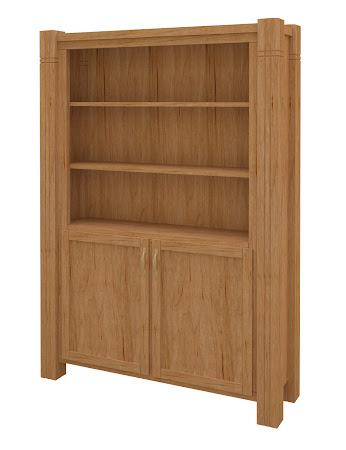 Phoenix Wooden Door Bookshelf in Calhoun Maple