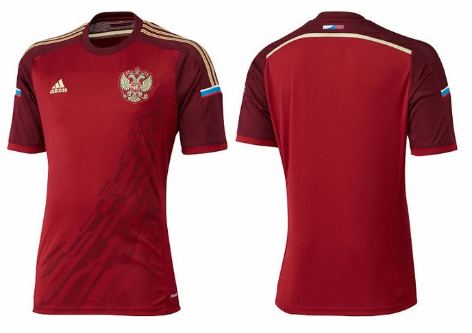 Russia home kit 2014 FIFA World Cup