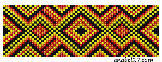 орнамент для станочногот ткачества free bead loom pattern