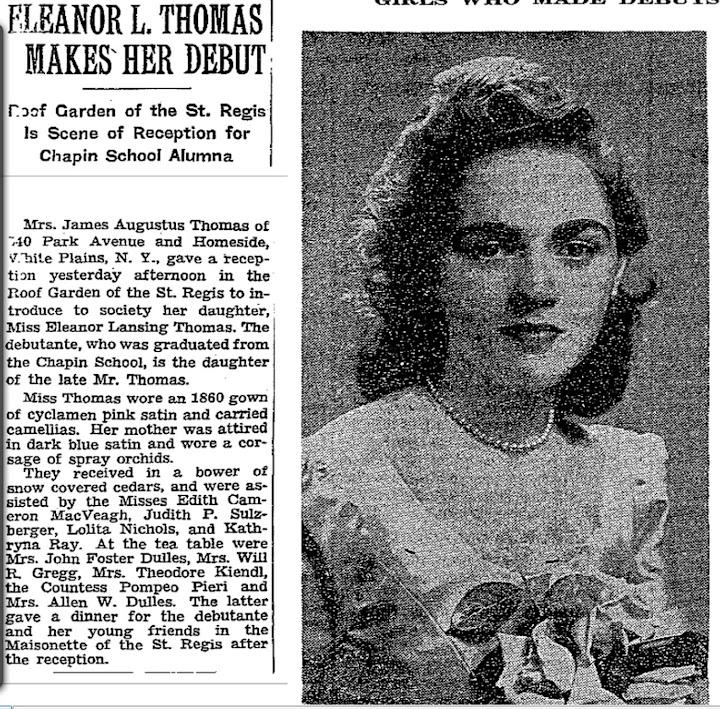 EleanorLansingThomasDebutDulles_1943NYTimes.jpg