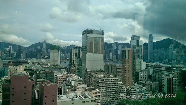 The view from the Yum Cha Restaurant in Hong Kong
