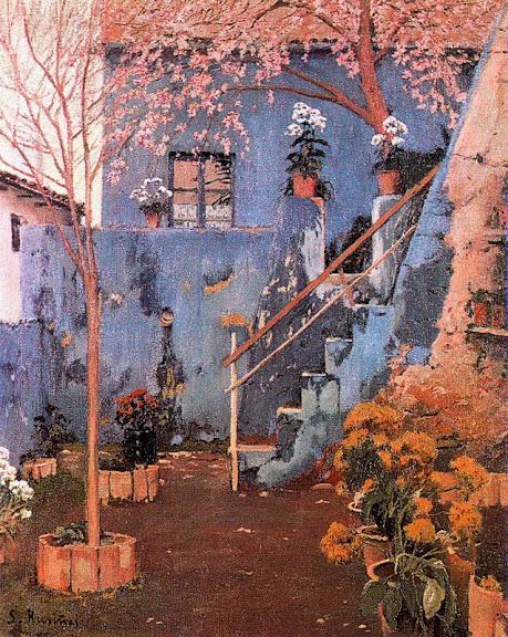 Santiago Rusiñol - Patio Azul en Sitges