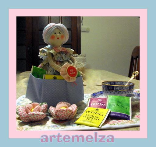 artemelza - boneca porta saquinho de chá