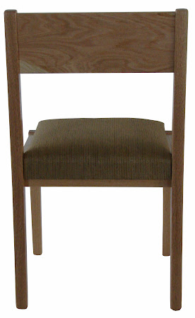 Modern Delton Chair in Natural Oak with Padded Seat