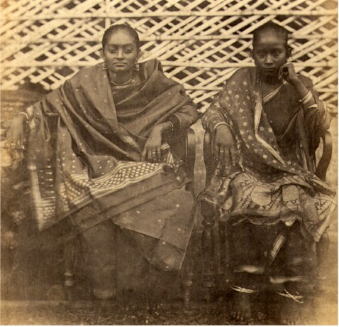 Albumen Photograph of Indian Ladies - Circa 1860's