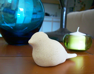diy salt dough bird figure