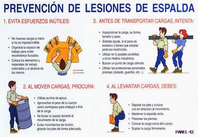 Prevención de lesiones en la espalda