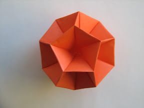 "Dodecahedral Skeleton from Miyuki Kawamura's ""Polyhedron Origami for Beginners"""