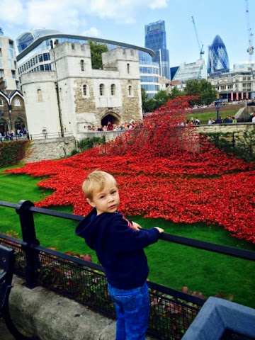 Blake Clement and the Tower of London Poppies spotted on our Fireman Sam Ocean Rescue Day