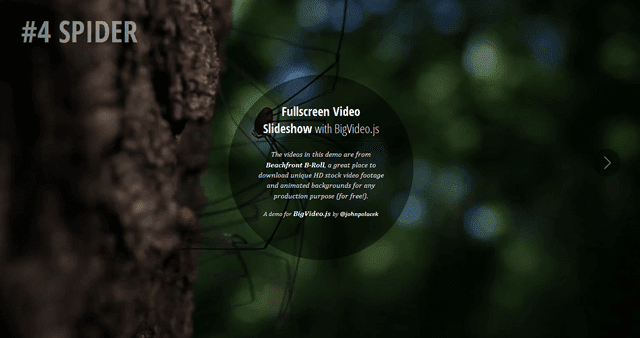 BigVideo.js jQuery Plugin for Big Background Video (and Images)
