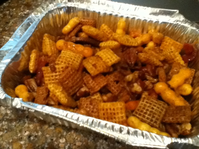 Cara's Creature Comforts: Kentucky bourbon bacon Chex mix