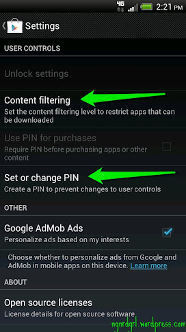 Content Filtering for the Google Play Market