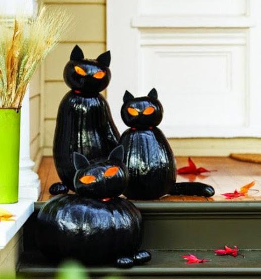 дом для кошек из тыквы