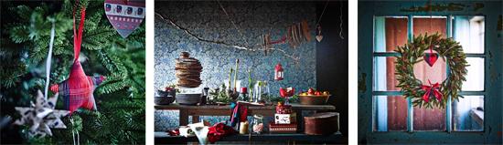 Decoración de Navidad tradicional.