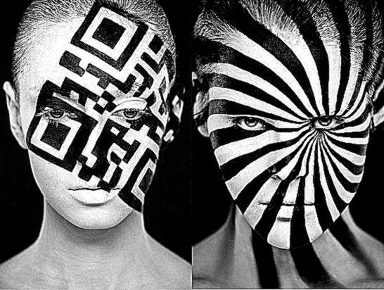 Black And White Face Art