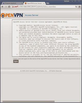Instalación y configuración de OpenVPN Access Server en un servidor con Linux CentOS