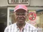 Jeannot Bombenga, artiste musicien le 20/08/2014 au studio de Radio Okapi à Kinshasa. Photo John Bompengo
