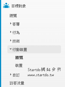 目標對象行動裝置-startdo網站分析