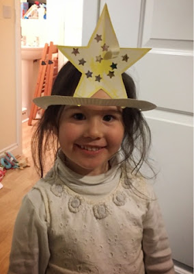 paper plate craft star hat Genesis Abraham