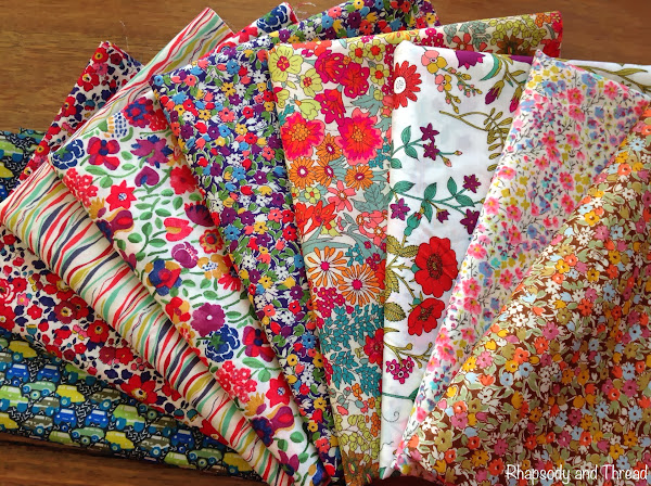 Liberty London fabric stash from Calico and Ivy (Mosman Park)