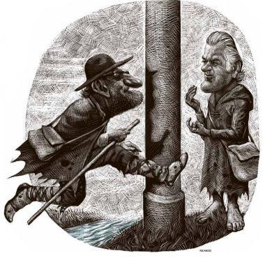 El ciego y el lazarillo Ricardo en El Mundo