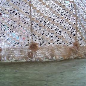stelaż abażura abażur szydełkowy dziergane meble ozdoby ariadna muza  kordonek nici bawełna shabby chic