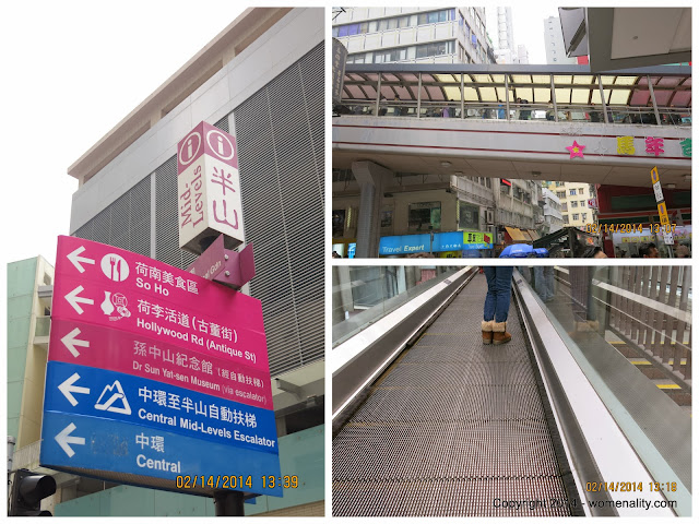 Going to the peak of the Mid-Levels Escalator