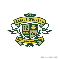 Carlos O'Kelly's Golf Championship logo design
