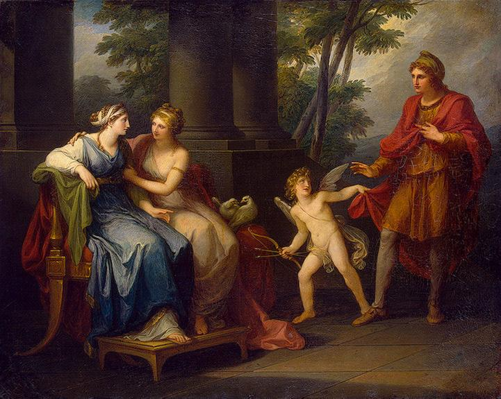 Angelica Kauffmann - Venus Induces Helen to Fall in Love with Paris