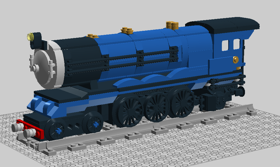 WIP - Persian Blue Steam Express - 4-6-2 - Model T - LEGO Train ...
