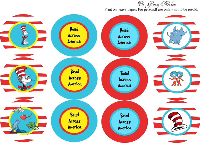 graphic relating to Read Across America Printable named My Paper lily: Totally free Printable Dr. Suess \