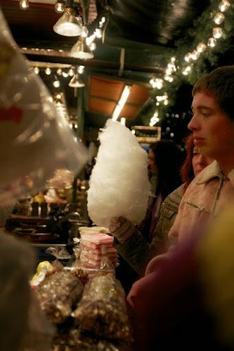 クリスマスマーケットで売っていた綿飴