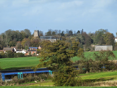 Kelsale church from the other side of the railway