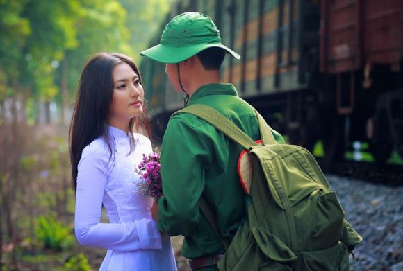 Ảnh tình yêu người lính