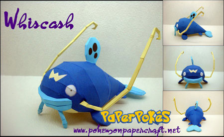 Pokemon Whiscash Papercraft