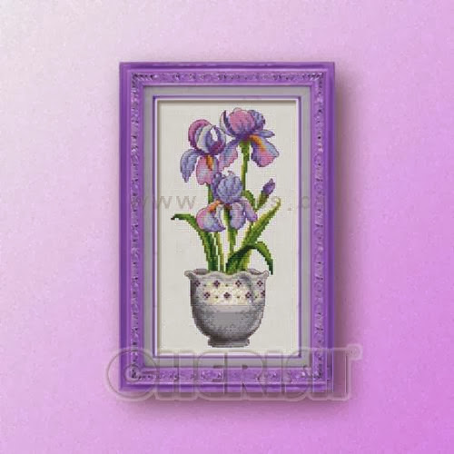 Pot flowers No2cross stitch pattern