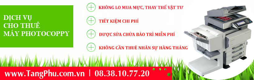 Dịch vụ cho thuê máy photocopy tại Tân Phú