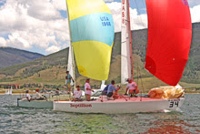 J/24 one-design sailboats- sailing Dillon Open Regatta
