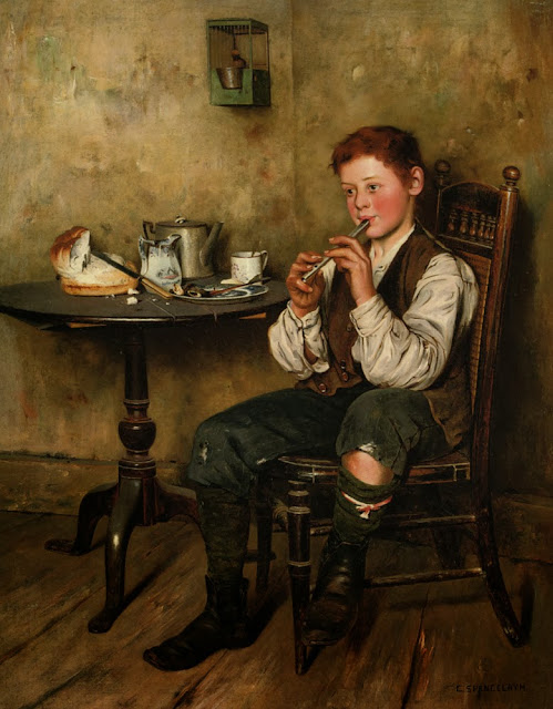 Charles Spencelayh - The Penny Whistle