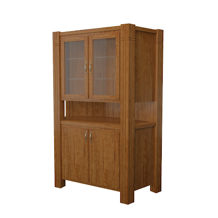 Phoenix Corner Cabinet in Como Maple