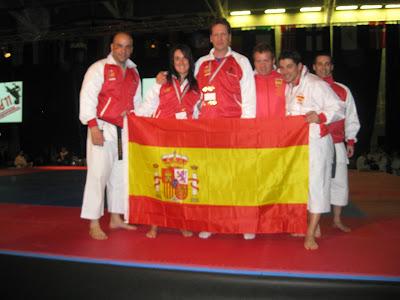 Parte del equipo español que partició en el campeonato Europeo de Londres 2011