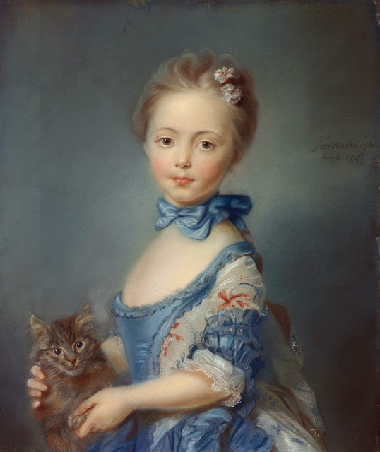 Jean-Baptiste Perronneau - A Girl with a Kitten