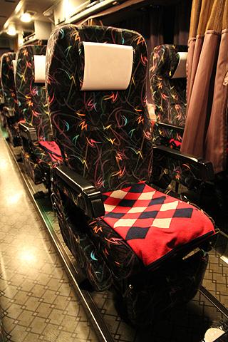 阪急観光バス「ムーンライト号」 K05-849 シート