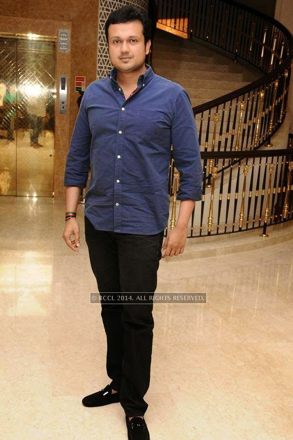 Varun Manaian during the birthday celebration, held at The Leela Palace, in Chennai.