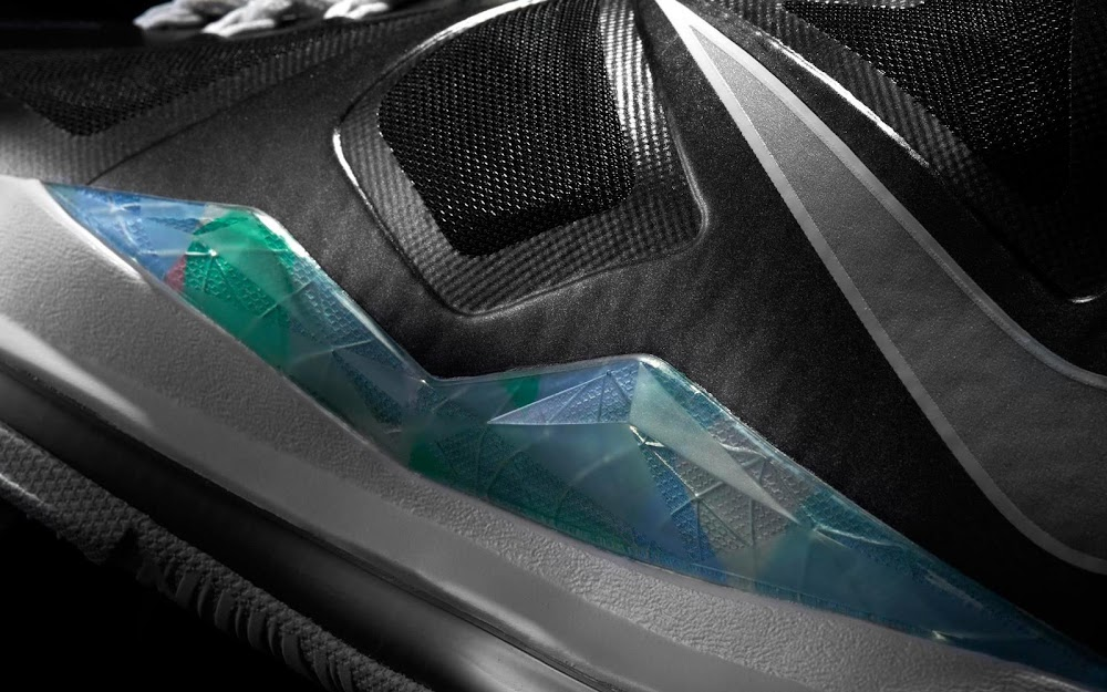 185e8b27c8b 541100-004 Black Strata Grey-White. Release Reminder Nike LeBron X Prism  and its Gallery ...